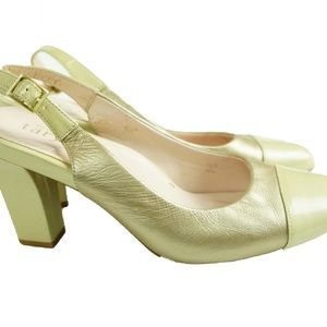 Taryn Rose Shoes - High Heels Slingback Taryn Rose Gold Leather 7.5